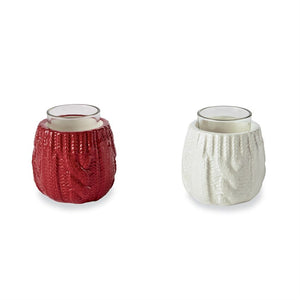 CABLE KNIT VOTIVE (2 colors)