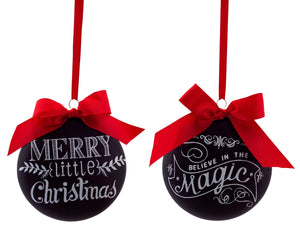 CHALKBOARD DISC ORNAMENTS (2 styles)