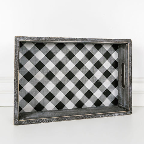 Black Checkered Tray