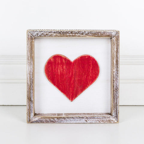Wood Framed Sign (Heart)