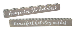 Buffalo Check Holiday Sign (2 styles)