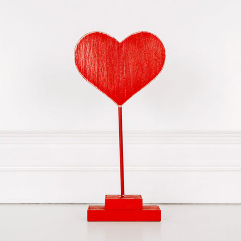 Wood Cutout on Stand (Heart), 2 colors