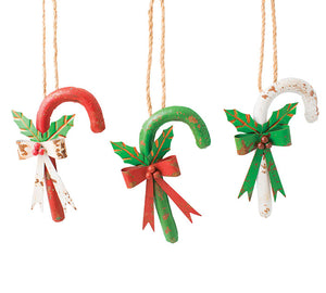 Candy Cane Ornament (3 styles)
