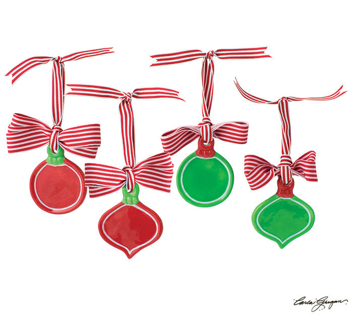 RED/GREEN ORNAMENT FOR PERSONALIZING