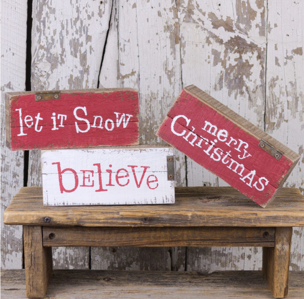 Small Salvage Christmas Pallet Sign (3 styles)