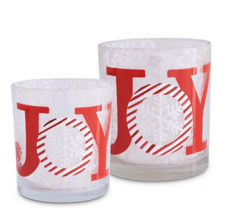 Glass Joy Votive (2 sizes)