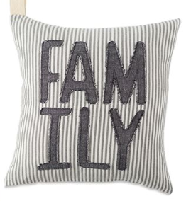 STRIPED DENIM FAMILY PILLOW