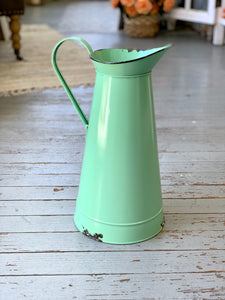 Tall Green Pitcher