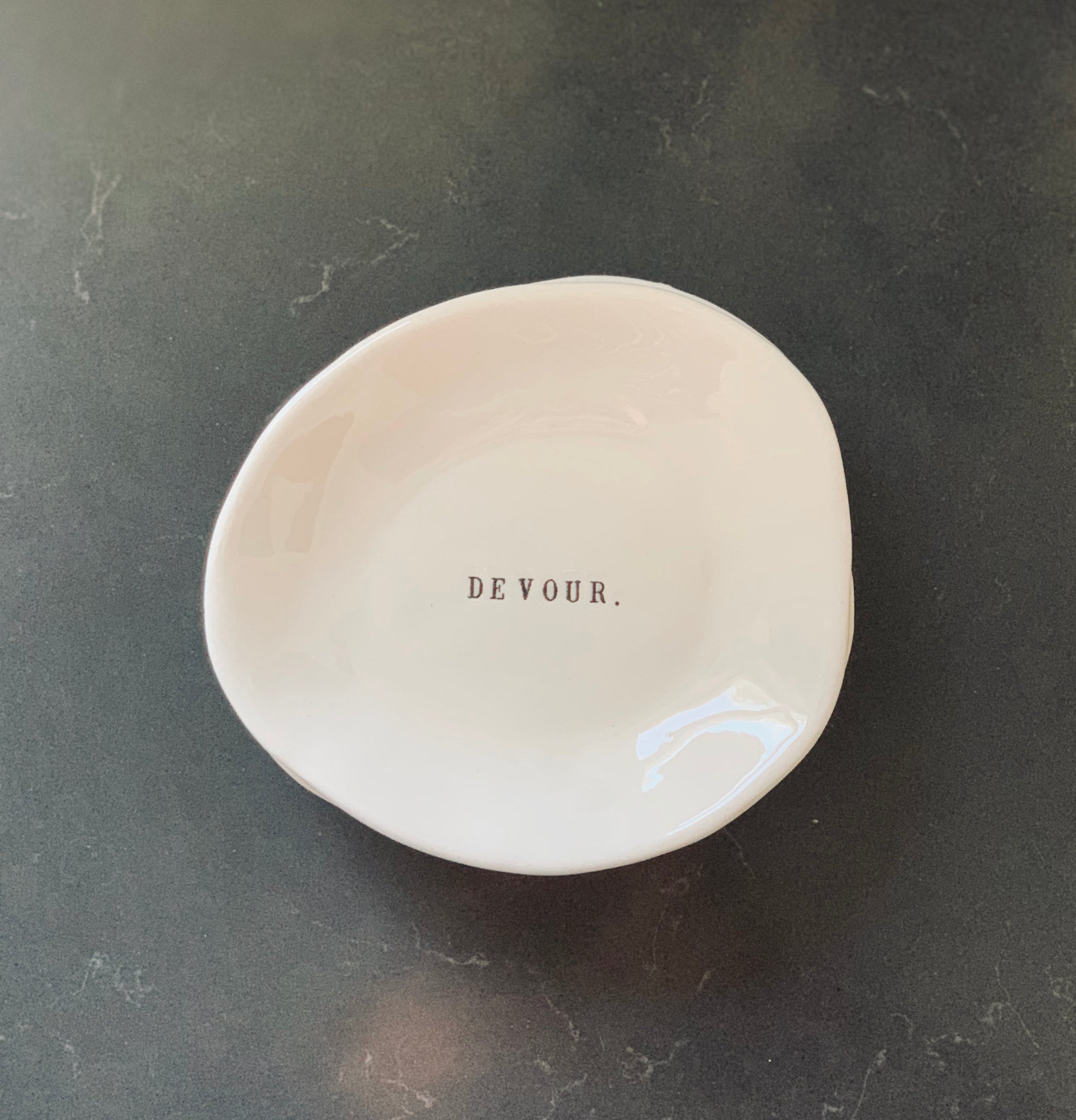 """Devour"" Rae Dunn Small Eating Dish"