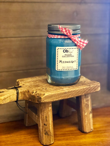 Oh Soy! Mason Jar Candle Midnight