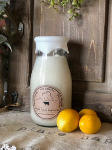 Milk Bottle Candle Front Porch Lemonade