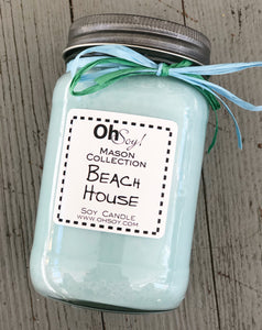 Oh Soy! Mason Jar Candle Beach House