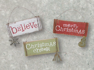 Pallet Wood Ornament ~ 3 Styles