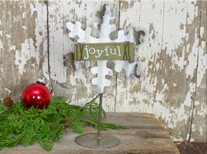 Joyful Snowflake on Stand w/Clip