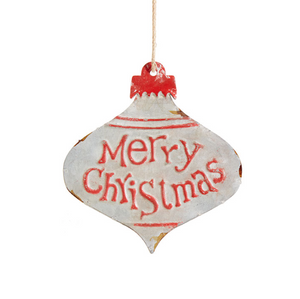 Merry Christmas Galvanized Ornament (2 sizes)
