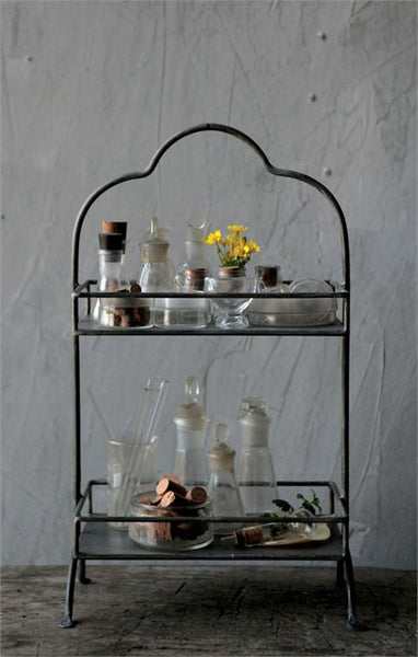 Decorative Metal 2-Tier Tray