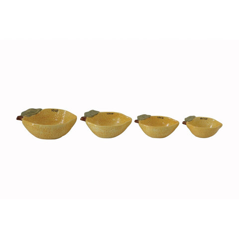 Stoneware Lemon Measuring Cups Set of 4