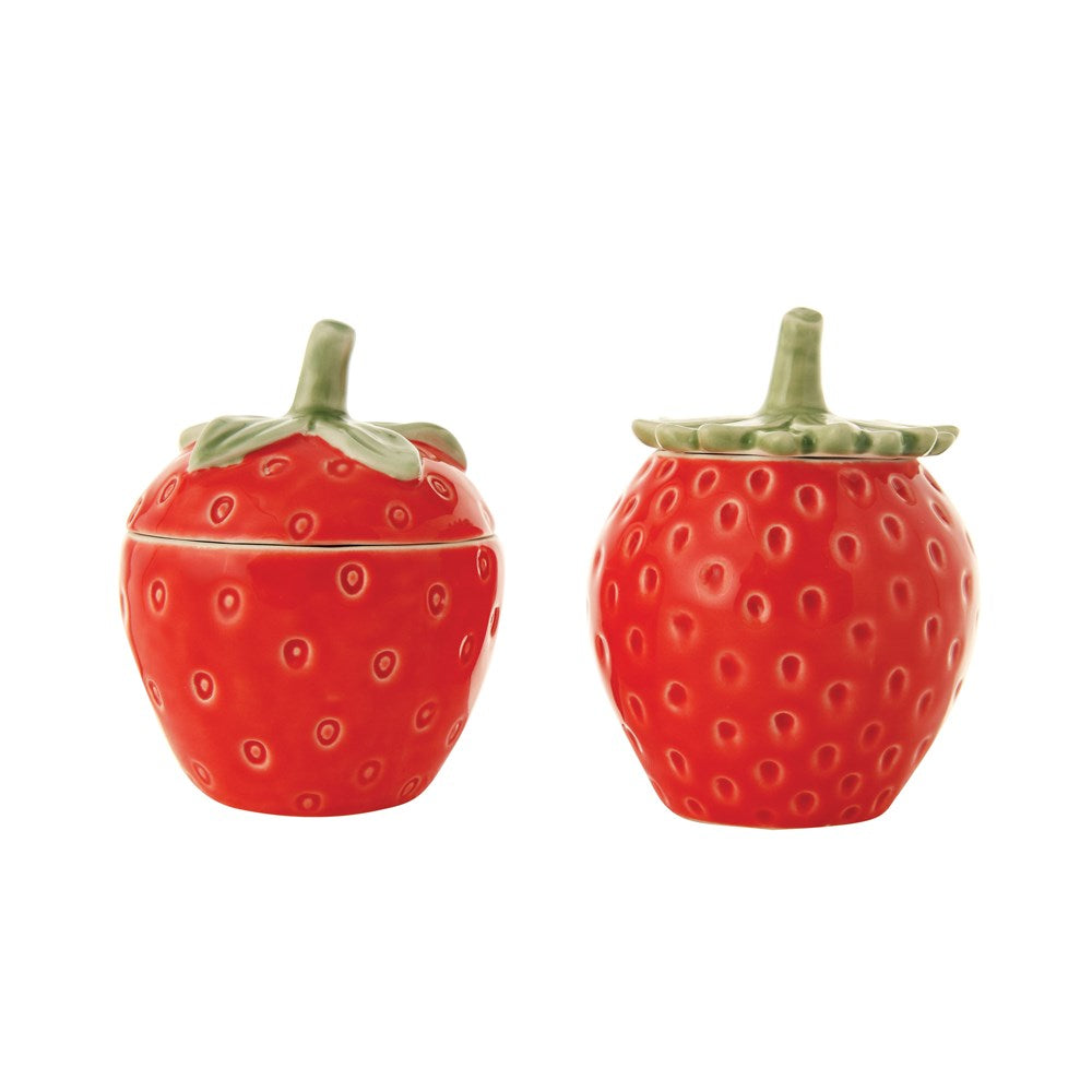 Stoneware Strawberry Jar, 2 Styles