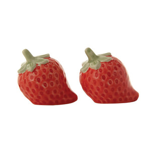 Stoneware Strawberry Salt & Pepper Shakers