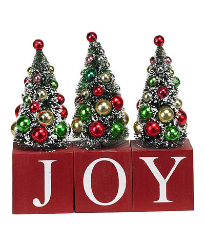 Christmas Tree 'Joy' Three-Piece Block Set