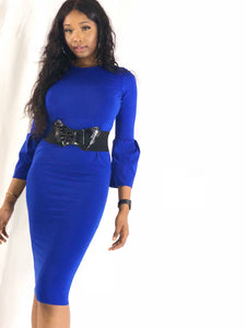 Deep blue sea midi Dress