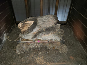 Fireplace logs and rack