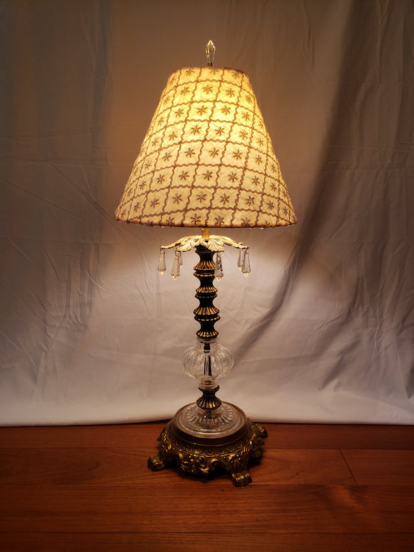 Sweet crystal and metal table lamp
