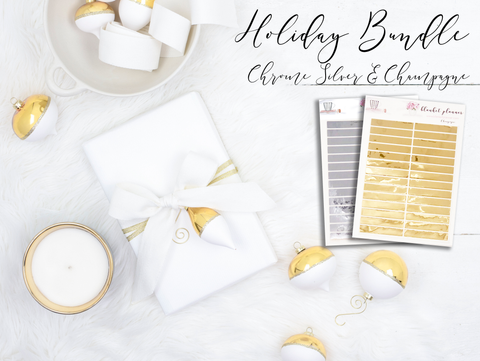 Holiday Chrome Bundle - Chrome Silver & Champagne