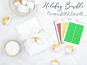 Holiday Glitter Bundle - Crimson, Gold & Emerald