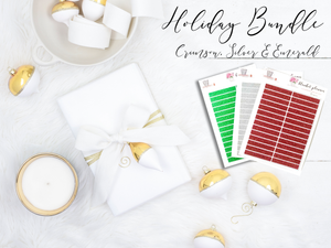 Holiday Glitter Bundle - Crimson, Silver & Emerald