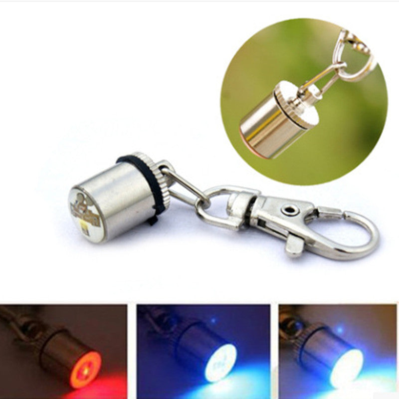 1Pcs Fashion Cute Keychain Style Safety Flashing LED Light Pet Dog Collar Signal lamp Pendant Charms Pets Cat Dog Accessories