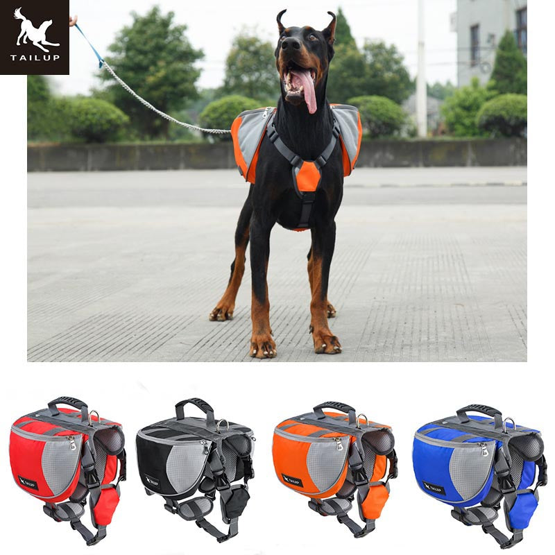 TAILUP Multifunction 600D Oxford Dog Carry Food and Water Bag Pet Training Accessories Corgi Hiking Running Dog Backpack
