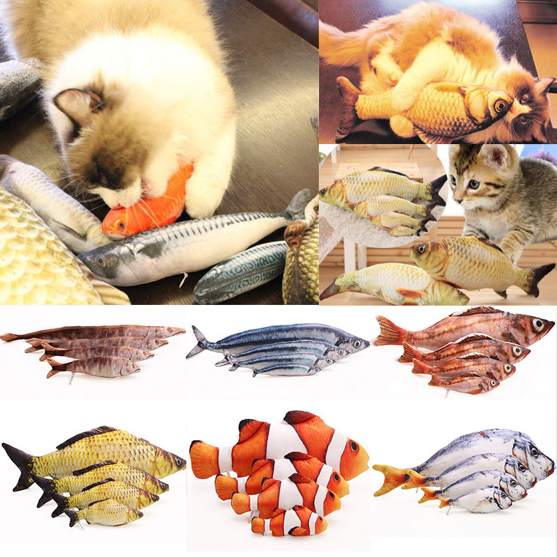 Popular 1pc New Cute Cat Favor Fish Toy Creative Funny Lifelike Fish Shape Catnip Interactive Toy Pet Kitten Product