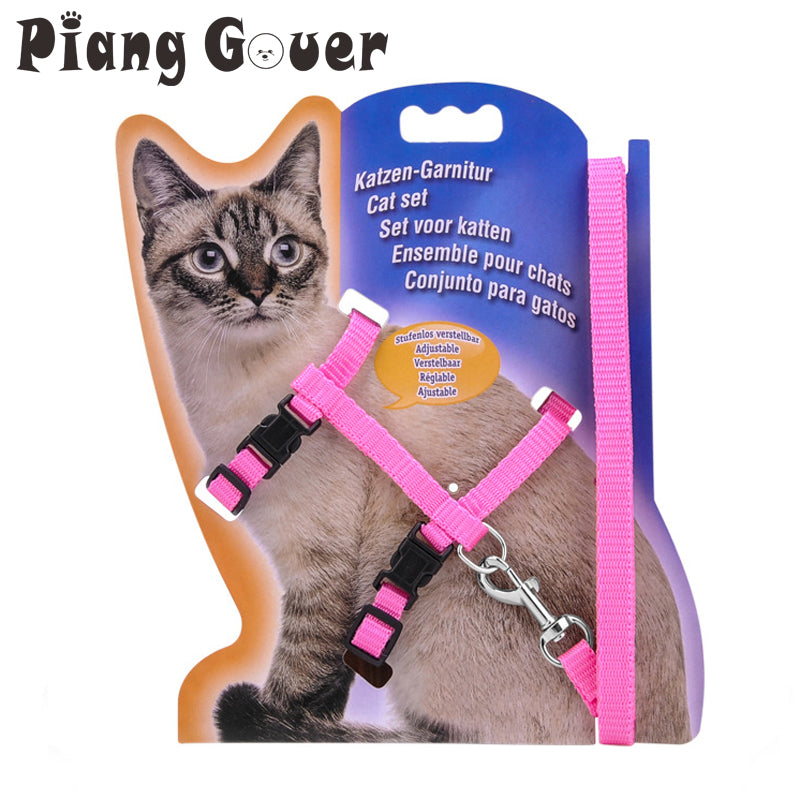 Pet Outdoor Leashes Chest Adjustable Harness Cats Walking Chest Strap Cat Collars
