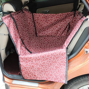 Foldable Waterproof Pet Dog Car Single Seat Cover Pad Pet Rear Seat Cushion Mat Blanket Hammock Safe Dog Car Seat Back Protector