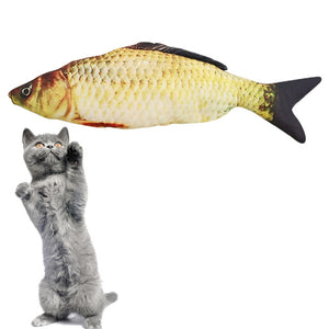 1PC Creative Pet Cat Kitten Chewing Cat Toys Catnip Stuffed Fish Interactive Kitten Product  Newest