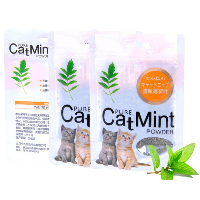 Cat Mint Natural Organic Premium Catnip Cat Mint Menthol Flavor Cat Treats Funny Toy 5g