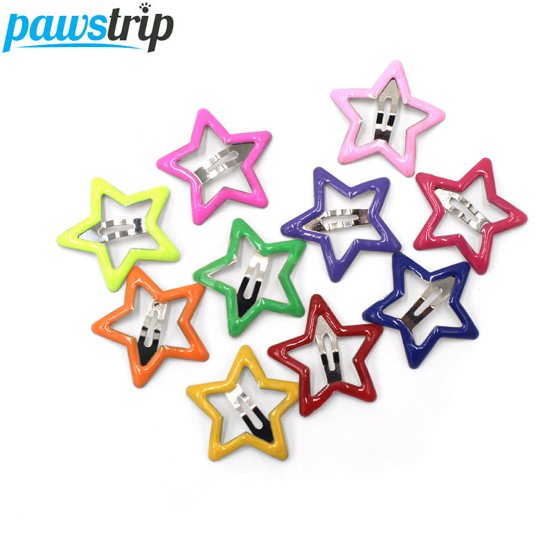 10pcs/lot Start Pet Dog Hairpin Mini 3cm Small Puppy Cat Hair Clips Pet Hair Accessories