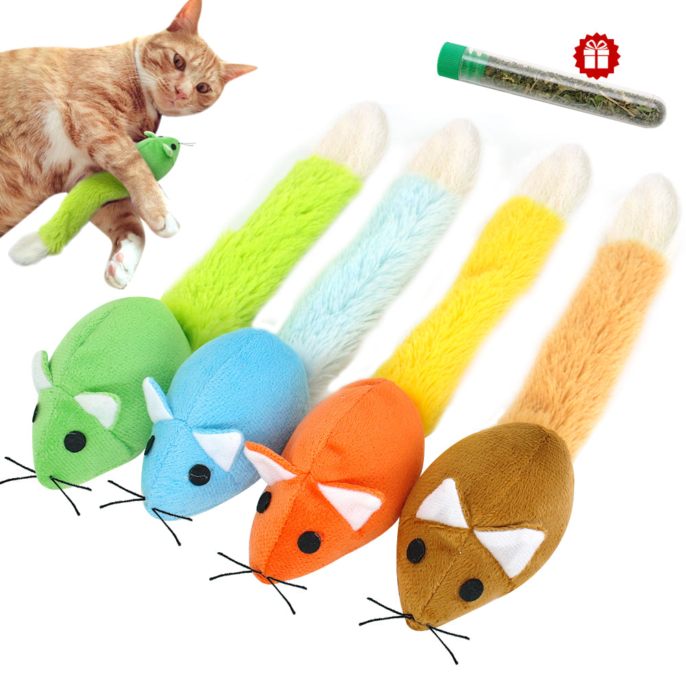 Funny Cat Toy Mouse Interactive Cats Teaser Toys Long tail Scratch Playing Training Toys Catnip For Cats Kitten Mice Rat Product