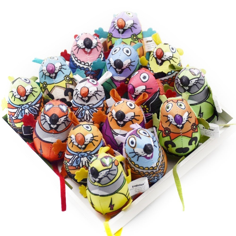 Colorful 15 PCS Cat Catnip Toys Colorful Mouse Small Bell Cat Teaser Pet Supplies Cat Favorite Mice Toys Scratch Toys