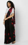 SHIBORI PURE SILK IN BLACK WITH RED DIAMONDS