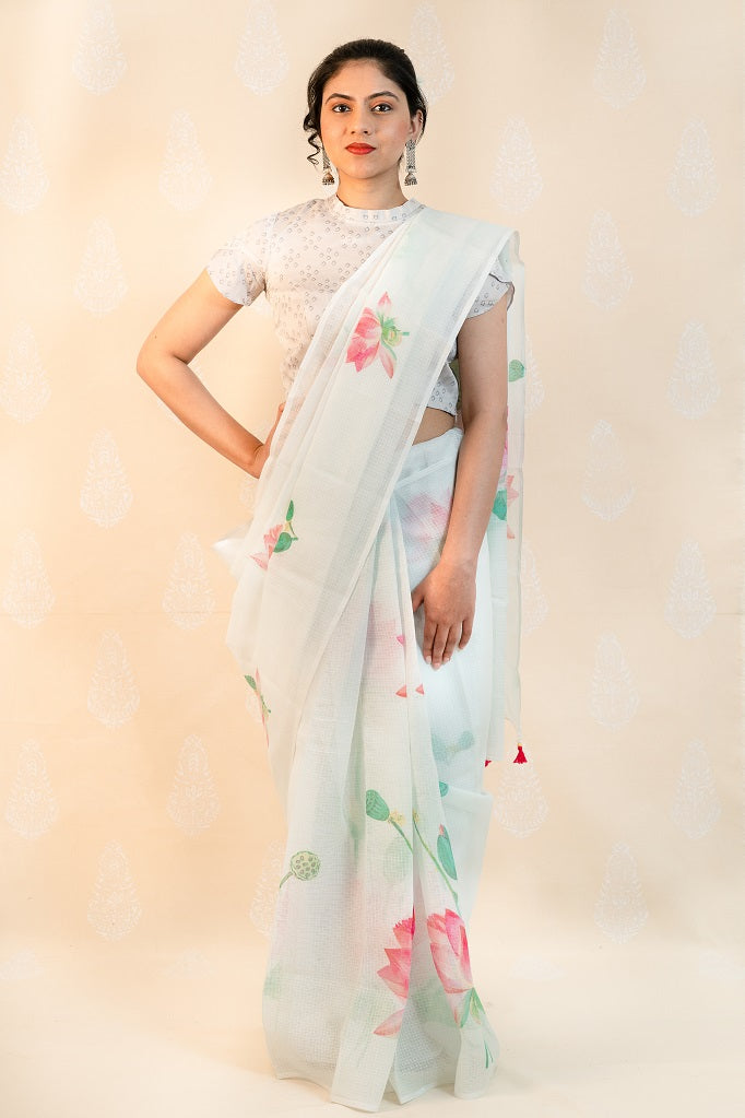 Ivory Kota with Lotus - Tina Eapen Design Studio