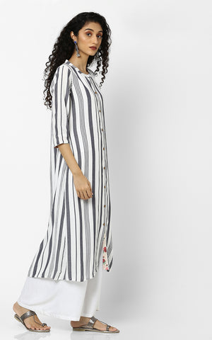 Black & White Strips Kurtas