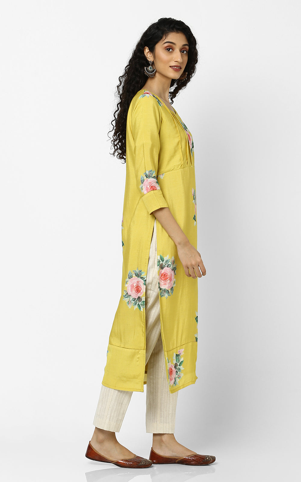 Yellow Floral Kurtas