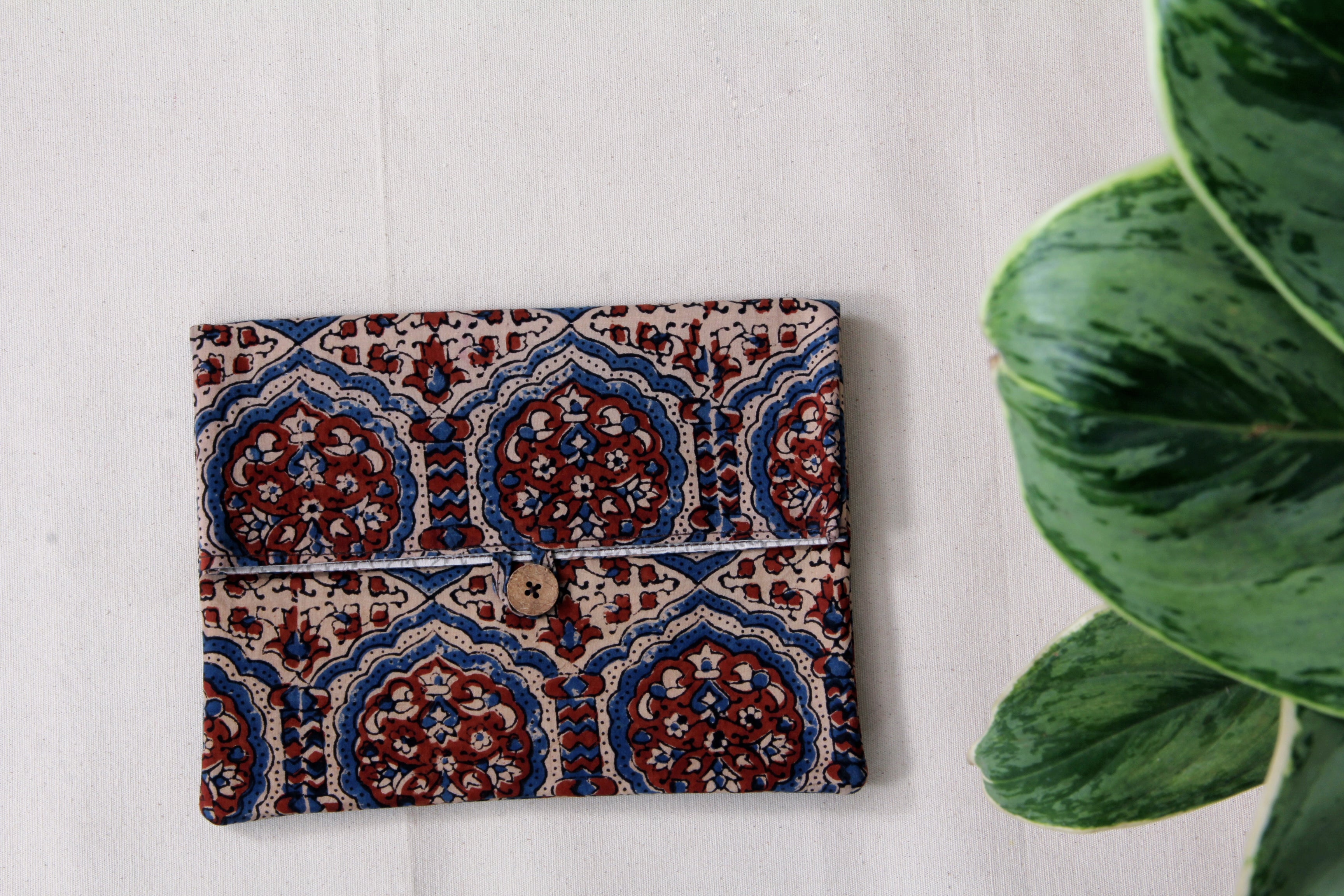 Envelope Clutches In Ajrak Prints - Tina Eapen Design Studio