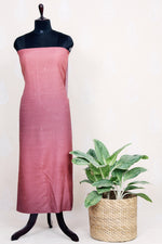 Handwoven Ombre Dyed Silk Kurtha Material With Mukaish Work-Brown - Tina Eapen Design Studio