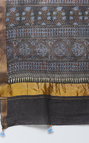 AJRAK PRINT COTTON SAREE