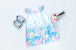 PURE COTTON SUMMER DRESS FOR LITTLE GIRLS