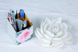 ECO FRIENDLY PEN & STATIONERY HOLDERS-ROSES