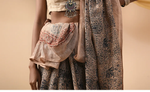 BEIGE HANDBLOCK PRINTED KALAMKARI SAREE IN NATURAL DYES